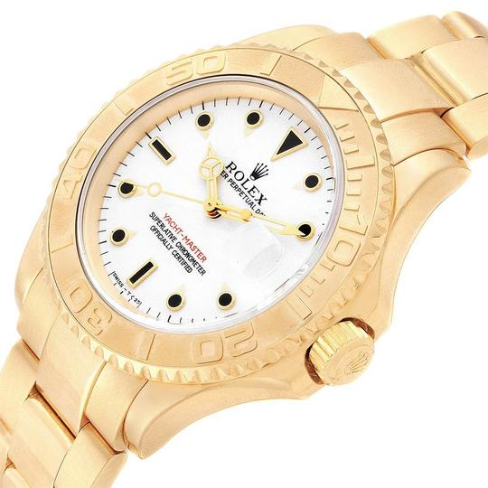 Rolex Rolex Yachtmaster 18K Yellow Gold White Dial Mens Watch 16628 Image 4