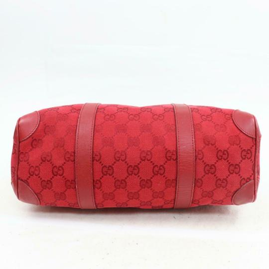 Gucci Doctor's Boston Rare Great Pop Of Color Satchel in Red large G logo print canvas and red leather Image 2