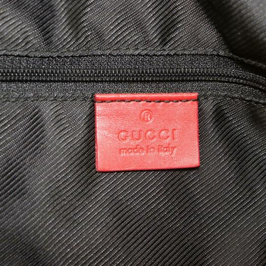 Gucci Doctor's Boston Rare Great Pop Of Color Satchel in Red large G logo print canvas and red leather Image 7