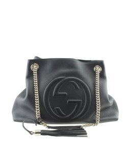 Gucci Leather Tote in Black