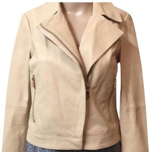 Tory Burch Nude Leather Jacket