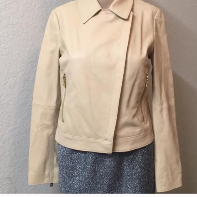 Tory Burch Nude Leather Jacket Image 1