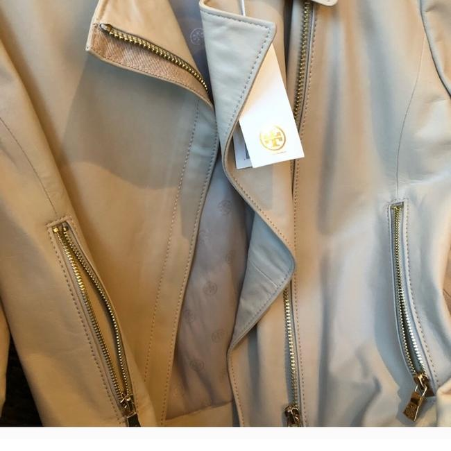 Tory Burch Nude Leather Jacket Image 2