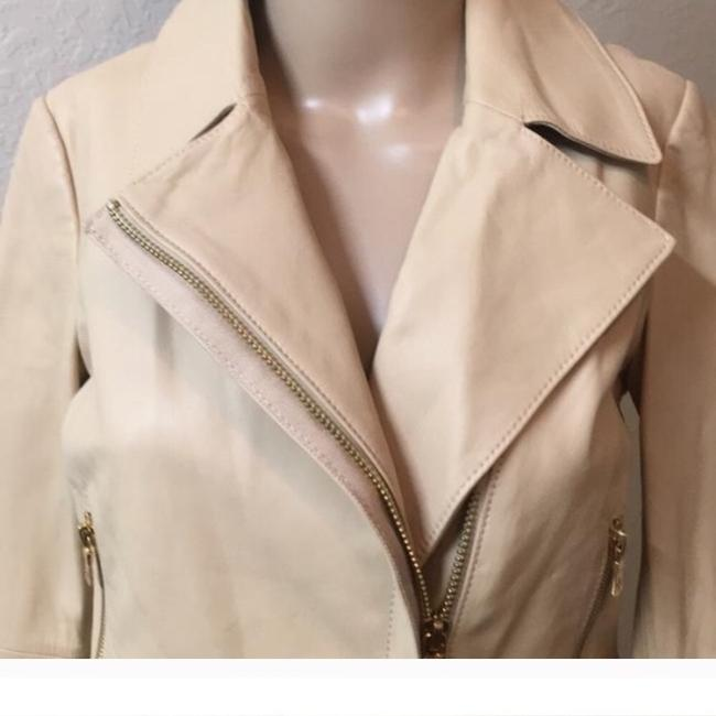 Tory Burch Nude Leather Jacket Image 3
