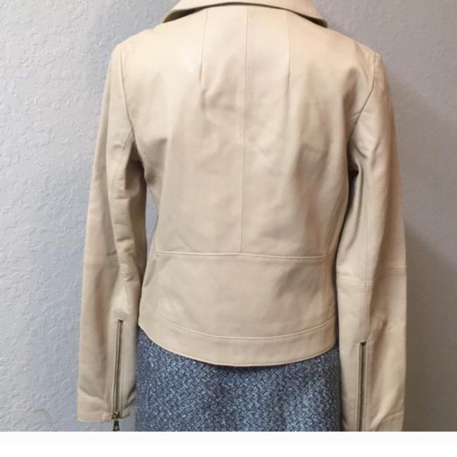 Tory Burch Nude Leather Jacket Image 4