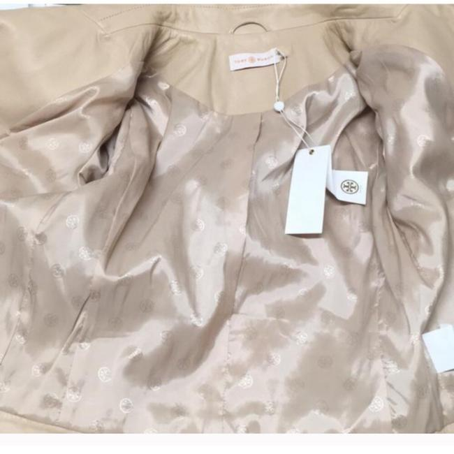 Tory Burch Nude Leather Jacket Image 5