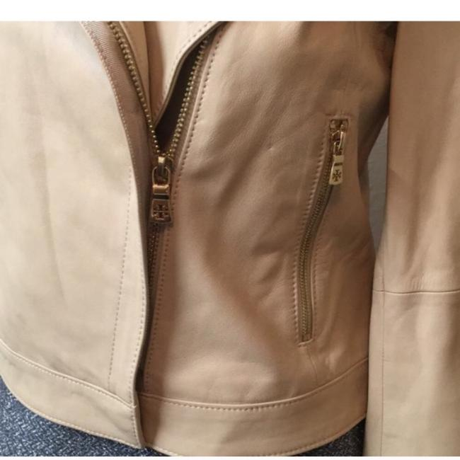 Tory Burch Nude Leather Jacket Image 6