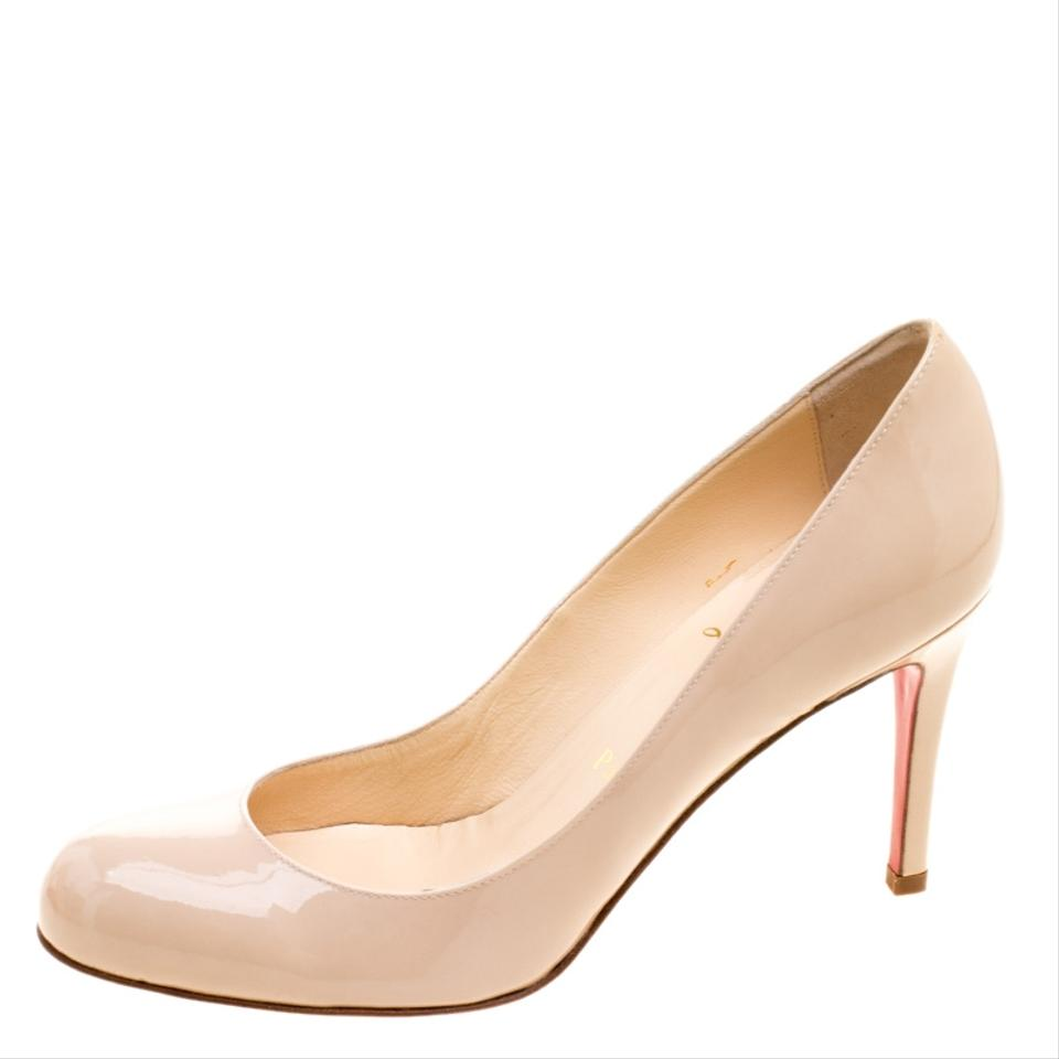 bef46027575a Christian Louboutin Beige Nude Patent Leather Simple Pumps Size EU ...