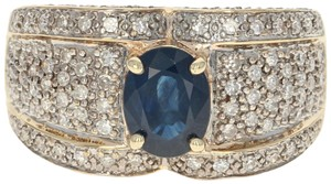 Other Sapphire & Diamond Ring - 14k Yellow Gold Oval U0682