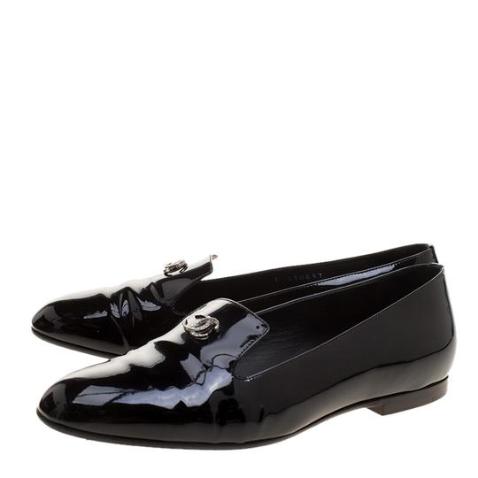 Chanel Patent Leather Slippers Black Flats Image 2
