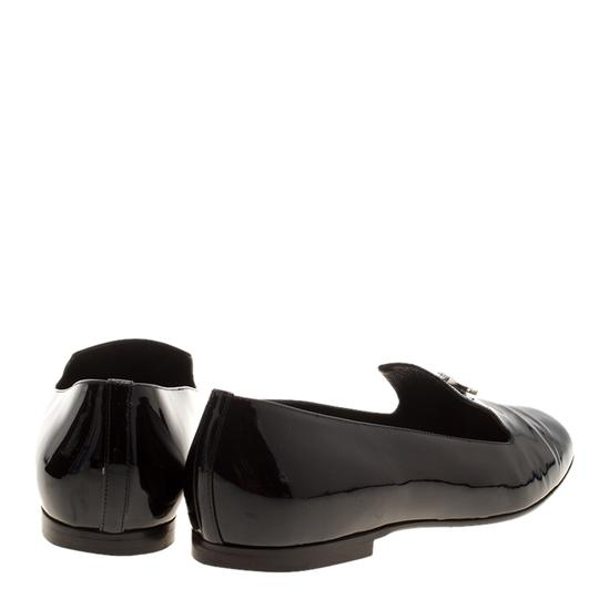 Chanel Patent Leather Slippers Black Flats Image 3