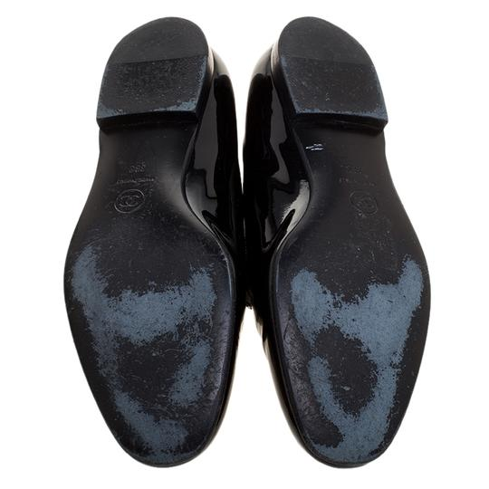Chanel Patent Leather Slippers Black Flats Image 4