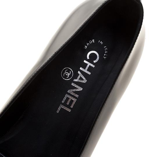 Chanel Patent Leather Slippers Black Flats Image 6