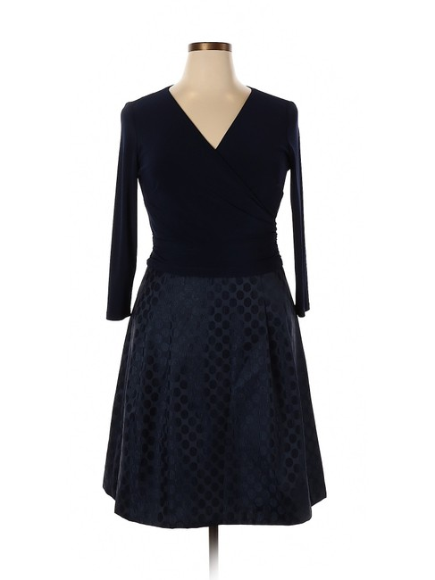 American Living short dress Navy Blue Modal Satin Polka Dot A-line on Tradesy Image 2