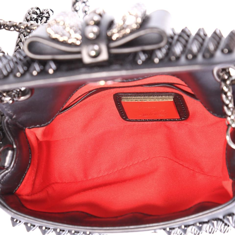 389eeff31a6 Christian Louboutin Sweet Charity Spiked Mini Black Leather Cross Body Bag  52% off retail