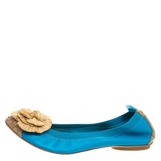 Chanel Leather Ballet Blue Flats Image 1