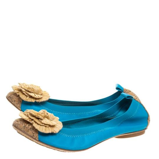 Chanel Leather Ballet Blue Flats Image 3
