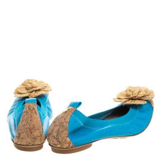 Chanel Leather Ballet Blue Flats Image 4