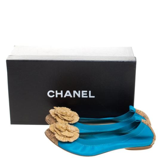 Chanel Leather Ballet Blue Flats Image 7