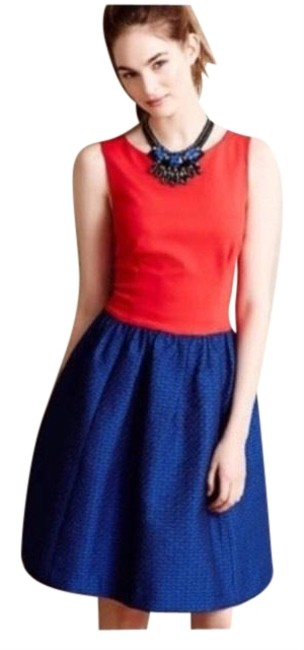 Item - Red Blue Plenty By Tracy Reese Short Casual Dress Size 6 (S)