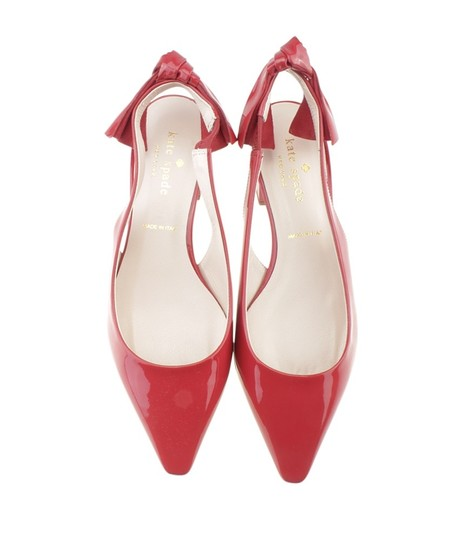 Kate Spade Slingback Patent Leather Red Sandals Image 2