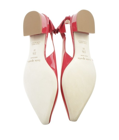 Kate Spade Slingback Patent Leather Red Sandals Image 6