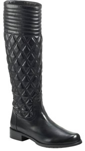 Stuart Weitzman Quilted Leather Knee High BLACK Boots