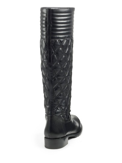 Stuart Weitzman Quilted Leather Knee High BLACK Boots Image 2