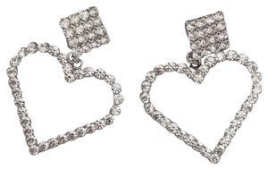 Alessandra Rich heart and crystal clip earrings