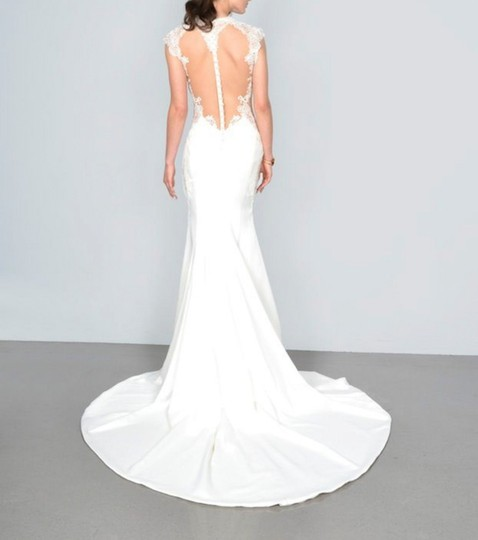 Galia Lahav Ivory Couture Dolce #1431 Illusion Lace Gown Sexy Wedding Dress Size 4 (S) Image 4