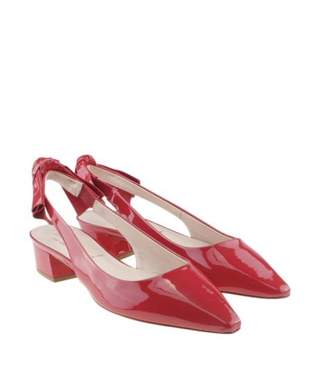 Kate Spade Slingback Patent Leather Red Sandals Image 1
