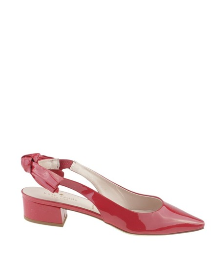 Kate Spade Slingback Patent Leather Red Sandals Image 3