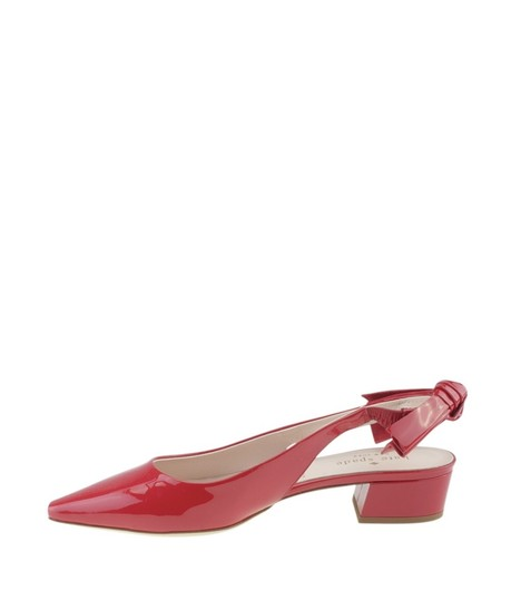 Kate Spade Slingback Patent Leather Red Sandals Image 4
