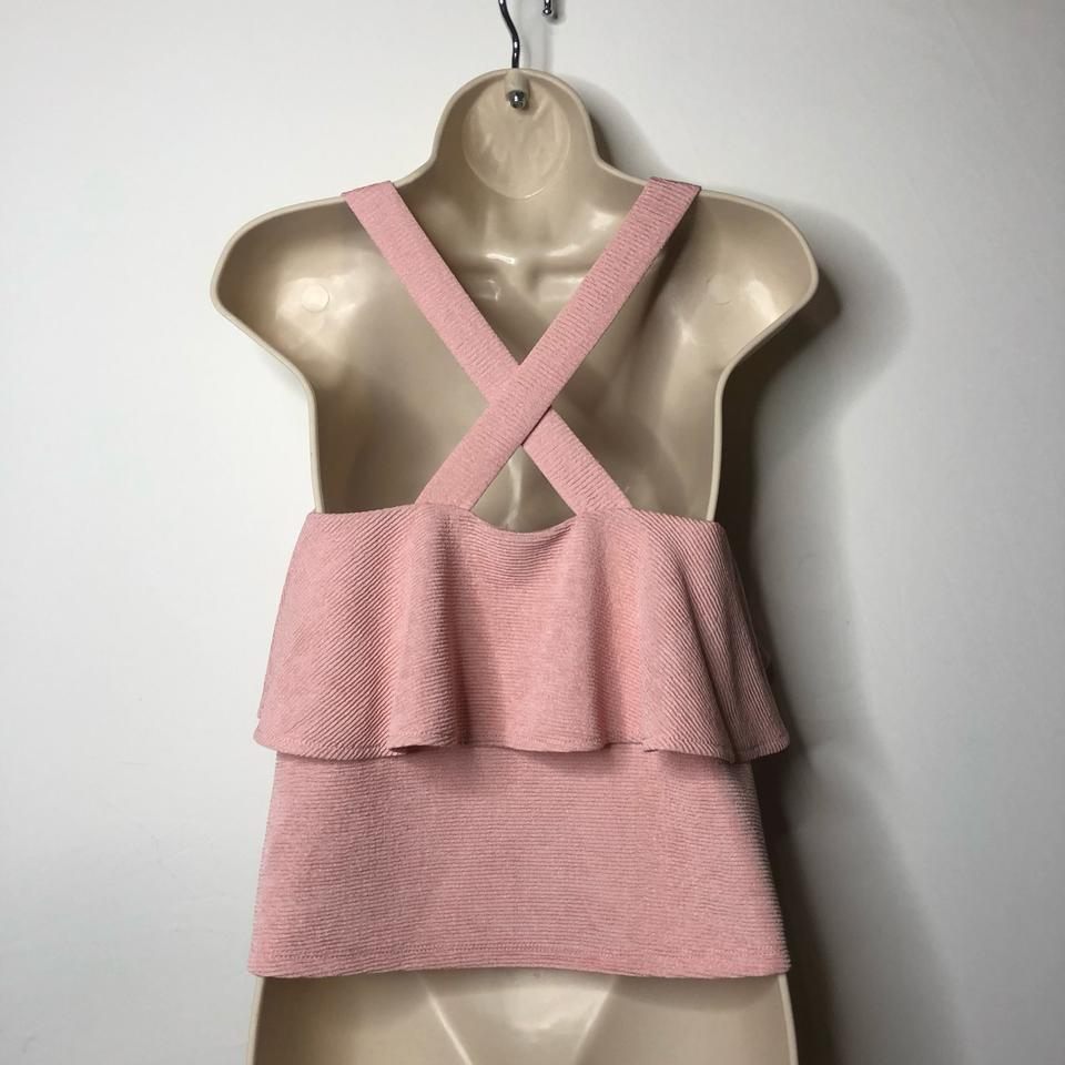 2f1ebaaa4c963d Madewell Blush Pink Texture and Thread Tiered Tank Top Cami Size 6 ...