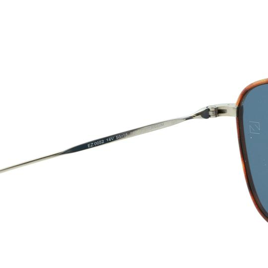 Ermenegildo Zegna New Ez0052 14v Shiny Light Titanium Rectangular Sunglasses 53mm Image 7