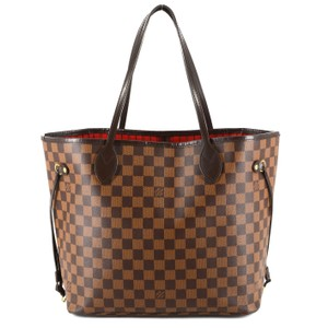 Louis Vuitton Damier Canvas Leather Bright Chic Classic Tote