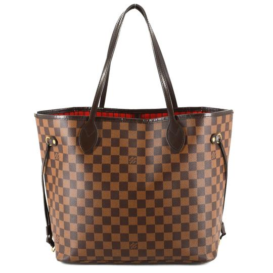 Louis Vuitton Damier Canvas Leather Bright Chic Classic Tote Image 0