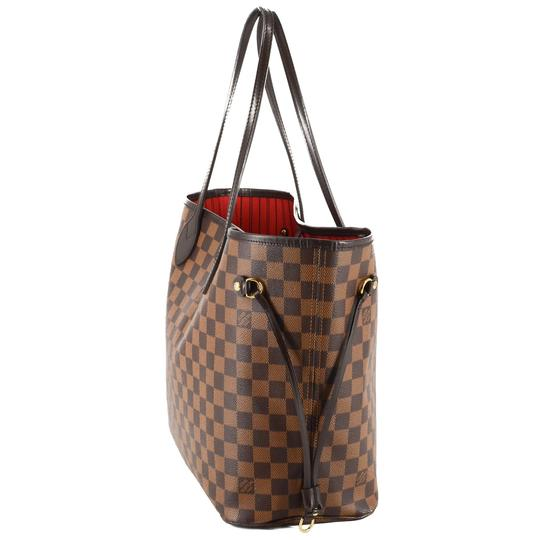 Louis Vuitton Damier Canvas Leather Bright Chic Classic Tote Image 1