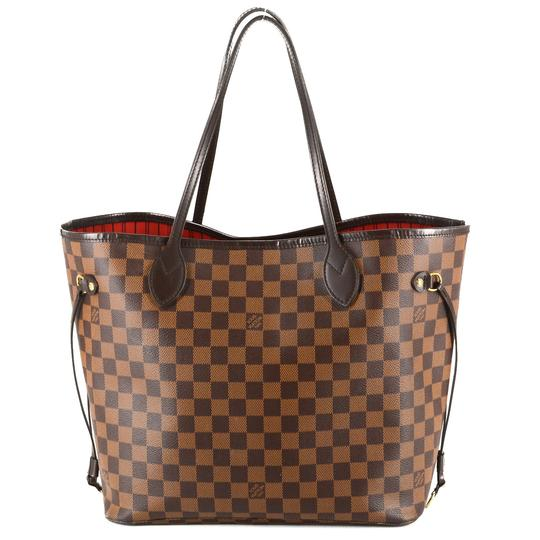 Louis Vuitton Damier Canvas Leather Bright Chic Classic Tote Image 2