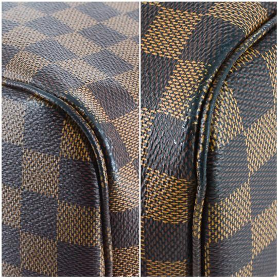 Louis Vuitton Damier Canvas Leather Bright Chic Classic Tote Image 5