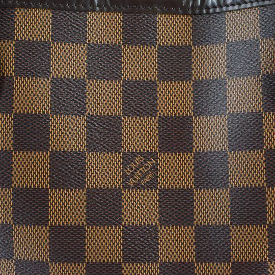 Louis Vuitton Damier Canvas Leather Bright Chic Classic Tote Image 8