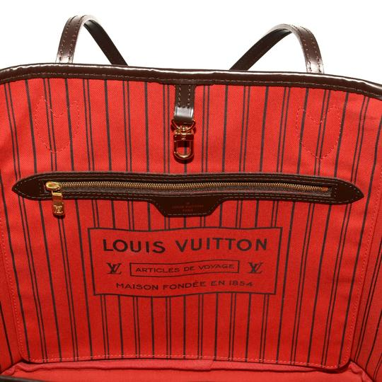 Louis Vuitton Damier Canvas Leather Bright Chic Classic Tote Image 9