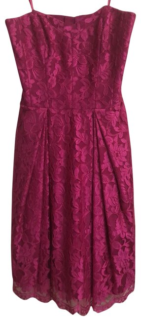 Preload https://img-static.tradesy.com/item/25096610/milly-hot-pink-strapless-lace-short-cocktail-dress-size-4-s-0-3-650-650.jpg