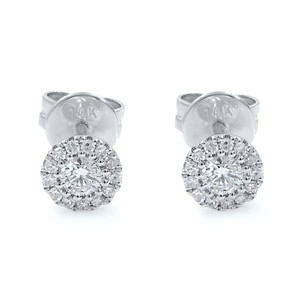 Gavriel's Jewelry Pave Diamond Cluster Earrings With Push Backings Studs