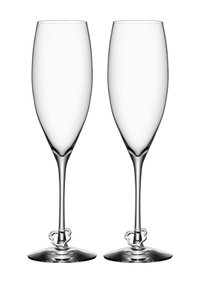 Clear Orrefors Crazy Heart 8.45 Oz. Champagne Flute - Set Of 2