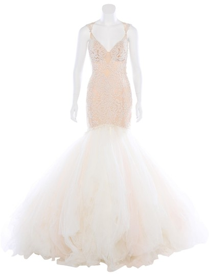 Galia Lahav Ivory and Blush Tulle Patchouli Sexy Wedding Dress Size 2 (XS) Image 1