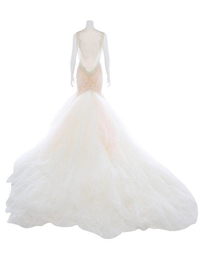 Galia Lahav Ivory and Blush Tulle Patchouli Sexy Wedding Dress Size 2 (XS) Image 2