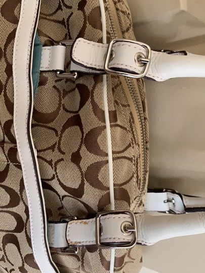 Coach Satchel in White and Tan Image 2