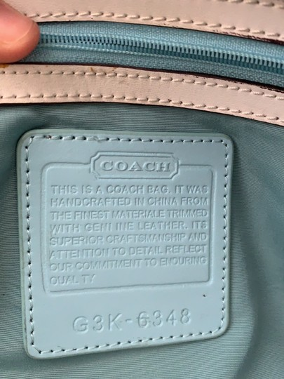 Coach Satchel in White and Tan Image 8
