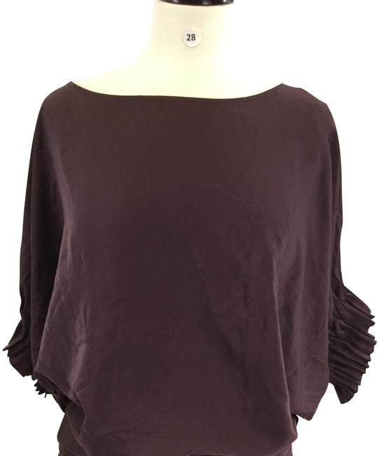 Item - Brown Or Purple Do&be Blouse Size 4 (S)